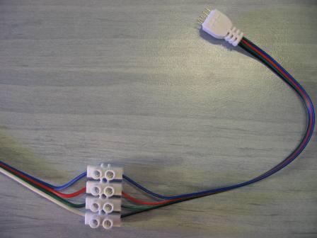 RGB LED szalag bekötése