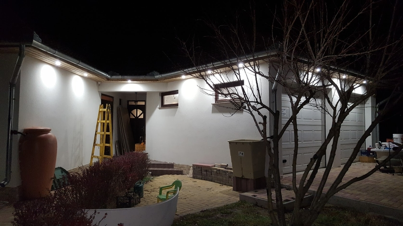 Ház külső világítás