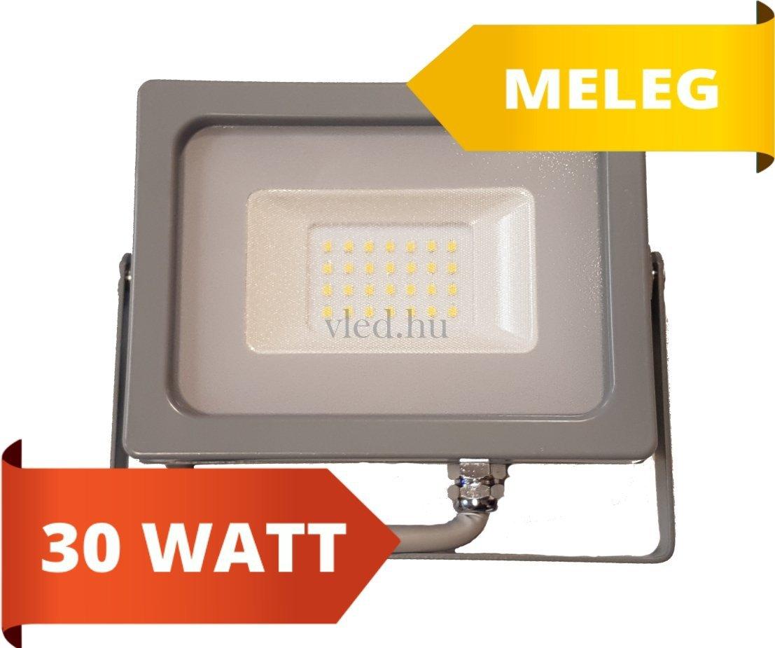 led reflektor slim 30w meleg feh r 3000 kelvin 2550 lumen sz rke h z vt 5816. Black Bedroom Furniture Sets. Home Design Ideas